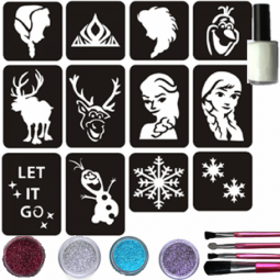 Glitter tattoos ijsprincesset