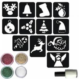 Glitter tattoo kerstset