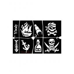Glitter tattoos piraten sjablonen