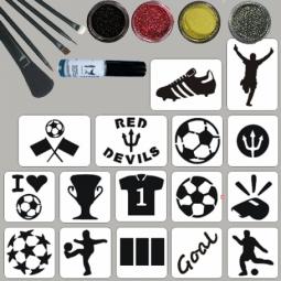Glitter tattoos voetbalset