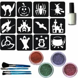 Glitter tattoo Halloweenset