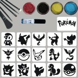 glittertattooset pokemon