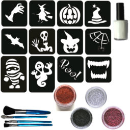 glittertattoos Halloweenset